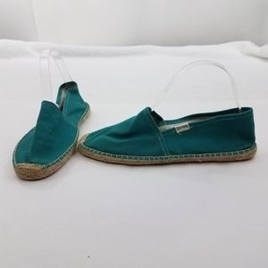 Soludos Size 41 10 Blue Espadrille Flats Rope Teal